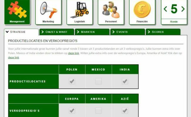 EcoTech management games managementgames hoger onderwijs