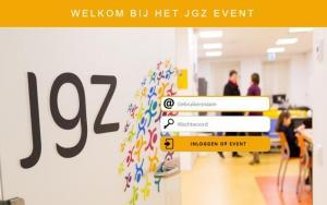 Inlogpagina JGZ event. Gamification, serious gaming voor organisatieverandering, verandertrajecten, verandermanagement, change management, zelf organiseren. Game voor teambuilding en event
